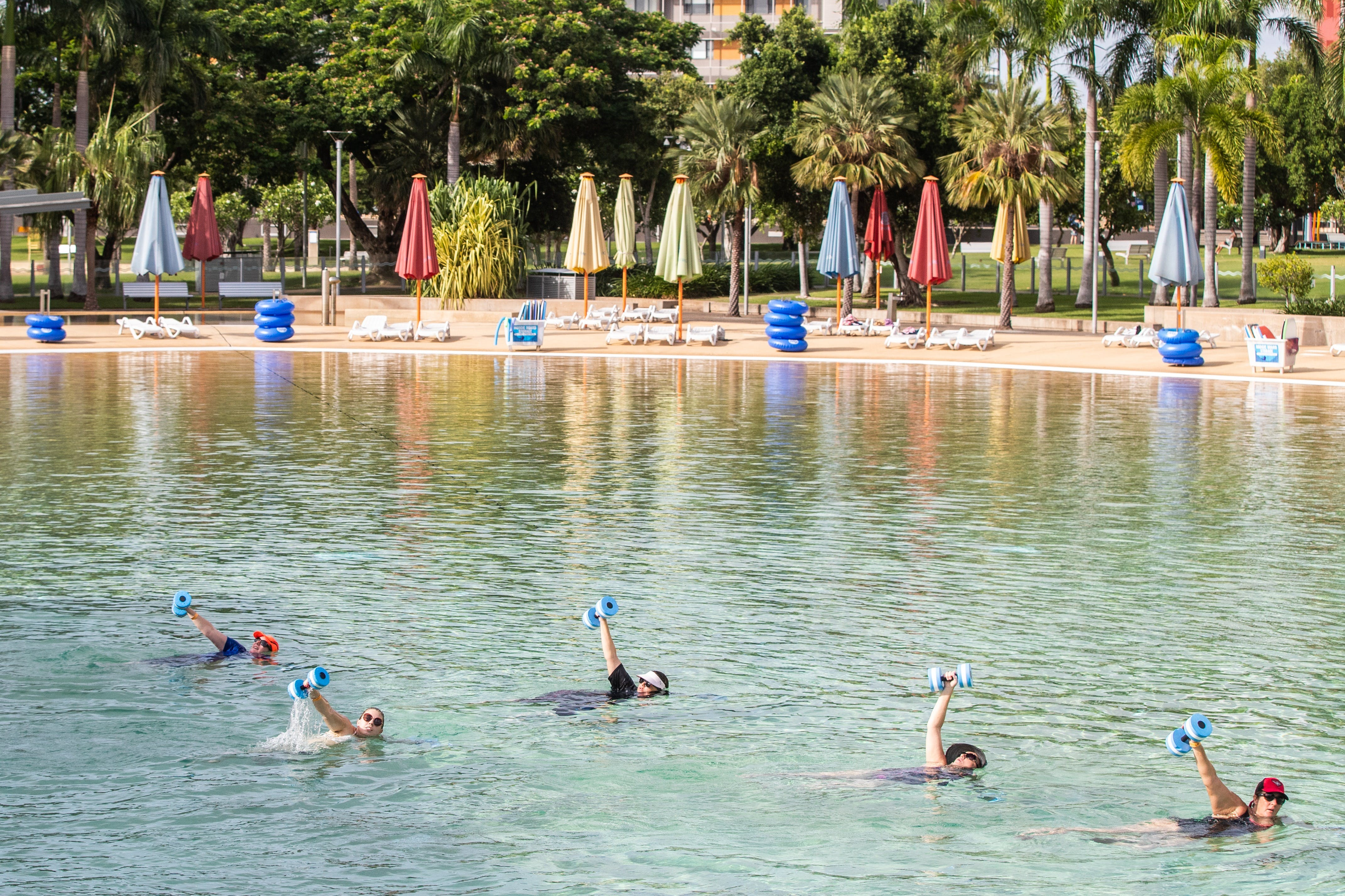 Aqua fitness in the Wave Lagoon - Pubs Perth