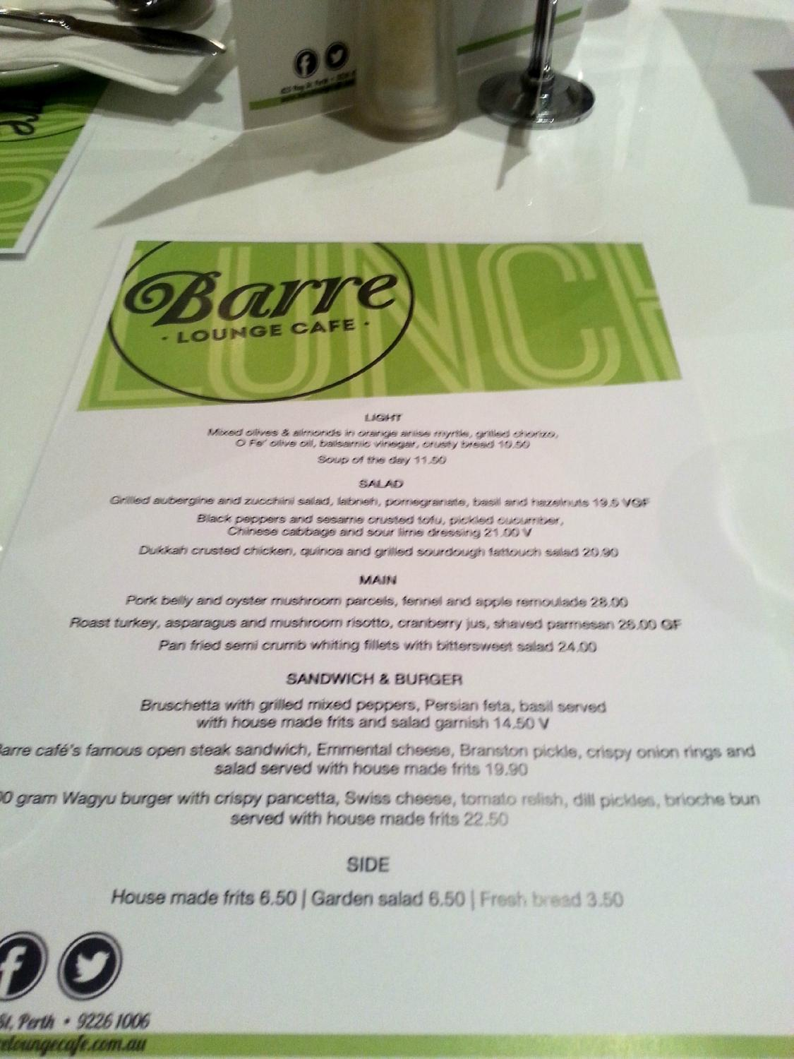 Barre Lounge Cafe - Pubs Perth